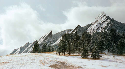 The Flatirons near the Chautauqua trailhead.