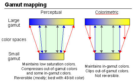 Gamut mapping diagram