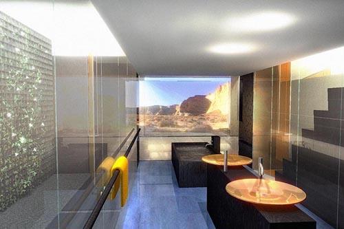 Nathan koren home rendering page one resort ut for Salle de bain moderne petit espace