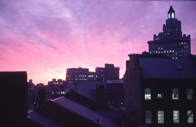 Providence sunset as scanned, unedited